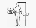 H - magasság C - mell W - derék