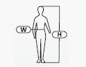 H - magasság W - mell