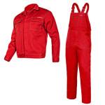 munkavÉdelmi ruha - komplett, vÉkony/piros